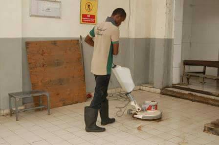 Corporate cleaning in Lagos Nigeria with sophisticated equipment