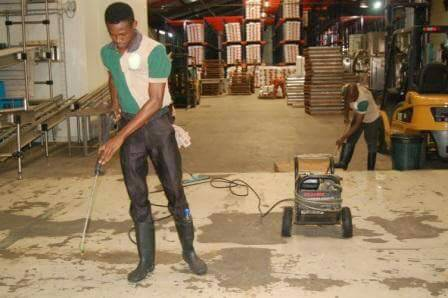 Factory cleaning and industrial cleaning services in Lagos Nigeria