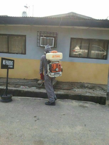 McGregor Nominees Limited fumigation staff at University of Lagos Akoka, Yaba, Lagos Nigeria
