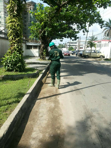McGregor Nominees Limited cleaning staff on a client site in Lagos Nigeria